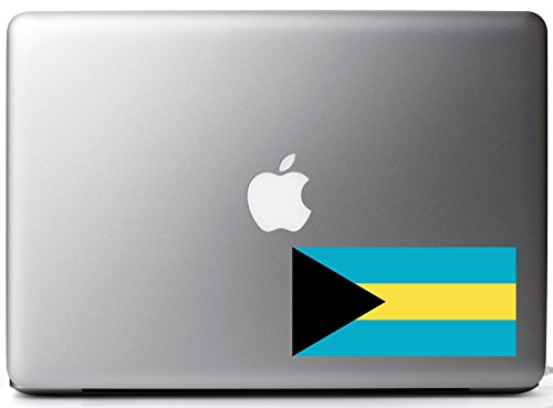 Commonwealth Of The Bahamas Country Pride Flag Full Color - Vinyl Decal for 13