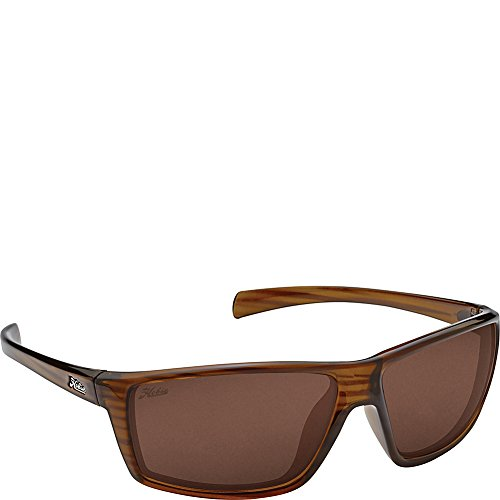 Copper Polarized Frame - Hobie Eyewear Topanga Sunglasses (Shiny Brown Wood Grain Frame/Copper Polarized