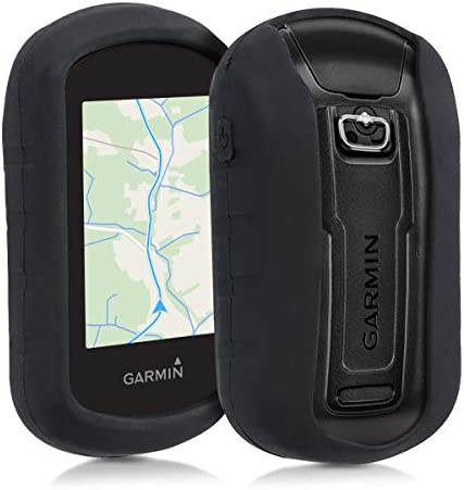 kwmobile Case CompatibleGarmin eTrex Touch 25/35 - GPS Handset Navigation System Soft Silicone Skin Protective Cover - Black