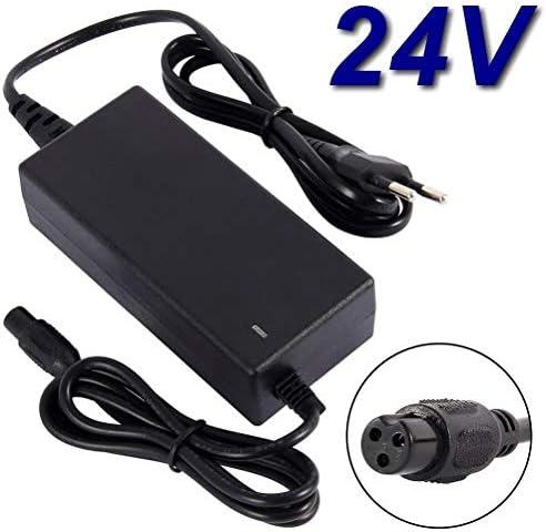Cargador de 24 V para patinete eléctrico Razor E200 E300 PR200, Pocket Mod, Deportes Mod, Dirt Quad, E-Bike, silla de ruedas, coche de golf