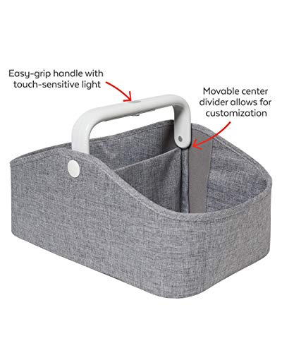 Skip Hop Diaper Caddy Organizer with Touch Sensor Night Light, Nursery Style