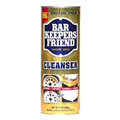 Use Bar Keepers Friend every day in kitchen and bath to keep surfaces clean and shiny. Its non-bleach formula removes tough stains, too.