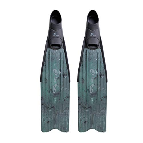 ROB ALLEN SCORPIA FREEDIVING FINS PLASTIC LONG BLADE SPEARFISHING FINS (Medium (8-9))