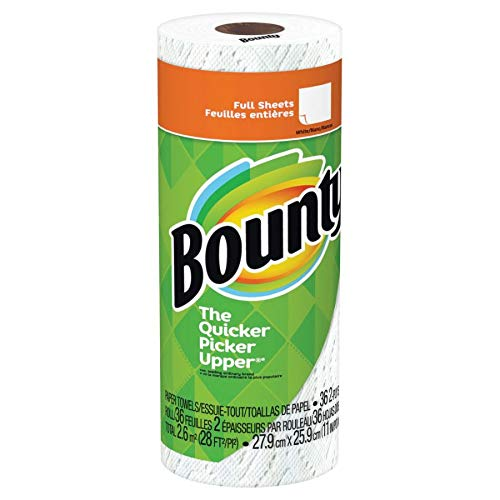 Bounty 76230 Paper Towels, 2-Ply, White, 36 Sheets/Roll, 30 Rolls/Carton
