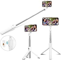 AUSELECT Selfie Stick Tripod, Extendable Bluetooth Selfie Stick with Wireless Remote