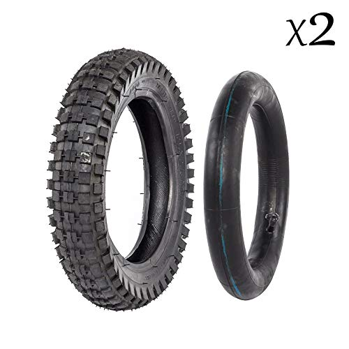 ZXTDR 2 Sets 12 1/2 x 2.75 (12.5 x 2.75) Tire and Inner Tube for Mini Pocket Bikes Razor Dirt Bike Rocket Dune Buggy
