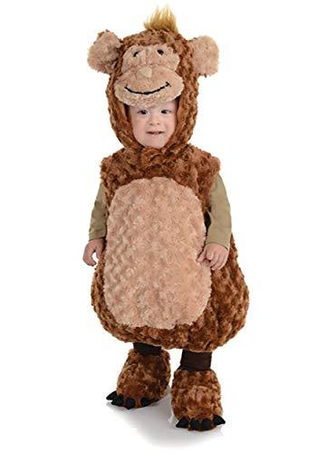 Underwraps Baby's Monkey Belly-Babies, Brown/Tan, -