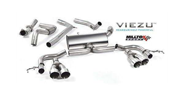 milltek para Honda Civic tipo R FK2 Turbo 2.0 L I-VTEC (RHD modelos sólo) 2015 - 2018 Cat-Back: Amazon.es: Coche y moto