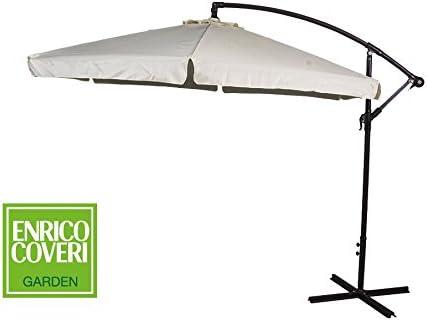 Enrico Coveri Garden Gazebo Bianco 3 x 3 Metri in Tessuto Impermeabile E Struttura in Acciaio Perfetto per Giardino Terrazzo ed Esterno