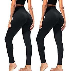 Syrinx High Waisted Leggings For Women Soft Athletic Tummy Control Pants For Running Yoga Workout