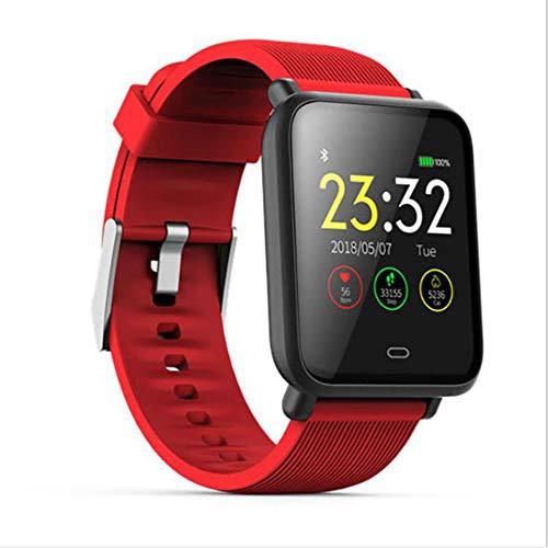 KT Large Screen Multi-Sports Mode Smart Bracelet, Waterproof Heart Rate Blood Pressure Detection Sports Bracelet Multiple Functions,Red