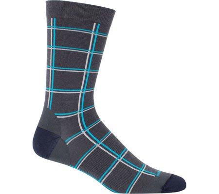 Icebreaker Men's Lifestyle Fine Gauge Ultra Light Crew Windowpane Socks