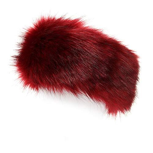(La Carrie Faux Fur Headband with Stretch Women's Winter Earwarmer Earmuff (Burgendy))