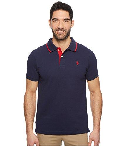 U.S. Polo Assn. Men's Short Sleeve Slim Fit Solid Pique Polo Shirt, Classic Navy Kjbh, (Classic Solid Pique Polo)