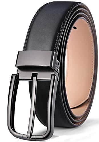 Decoration Genuine Leather Belt - Men's Belt,Bulliant Genuine Leather Belt for Men Dress&Jeans with holes 1 3/8,Trim to Fit