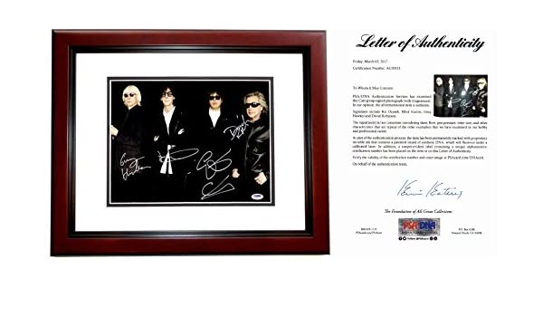 The Cars Signed - Autographed 11x14 Photo MAHOGANY CUSTOM FRAME ...