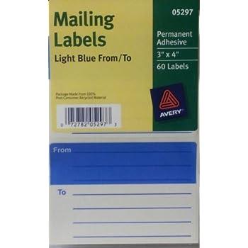blue mailing labels