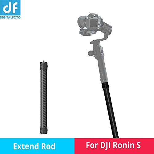 DF RS-S01 Extendable Stick Selfie Pole Monopod Carbon Fiber Handheld Rod Bars Compitable for Ronin s 3 axis Gimbal