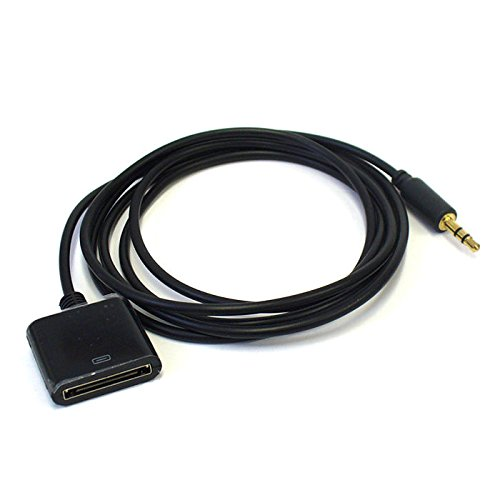 Input Adapter Cable - Bose Sounddock AUX Input Converter Adapter Cable ipod iphone dock to 3.5mm plug - 3.3 feet BLACK
