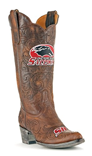 Illinois Boots NCAA Women's Southern Salukis inch Gameday Brass 13 Bf05q40w