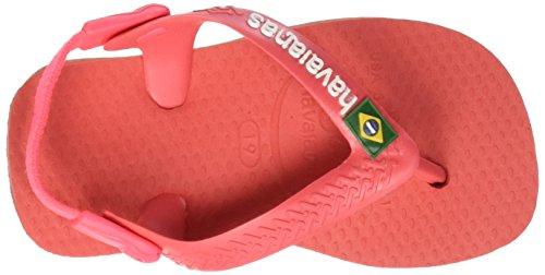 Havaianas Zehentrenner Baby Brasil Logo Rosa (Coral New 6024)