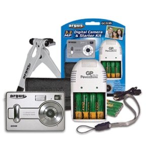 Digital Camera with Starter Kit Tripod Charger & Batteries