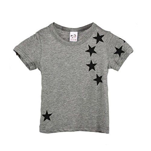 [TRENDINAO 2017 Hot Sale Summer Children Boy Kids Star O Neck Tops Tees (90(2-3Y), Gray)] (Heavyweights Halloween Costume)