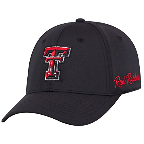 Top of the World Texas Tech Red Raiders Men's Fitted Hat Icon, Red, One Fit