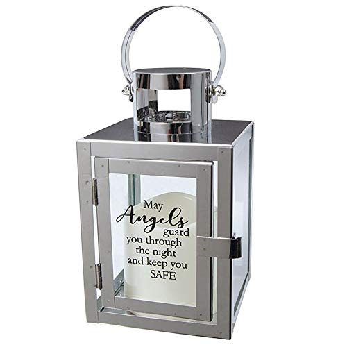 Carson Home Accents Flameless Candle Light The Way Copper Metal Lantern (Angels/Safe)