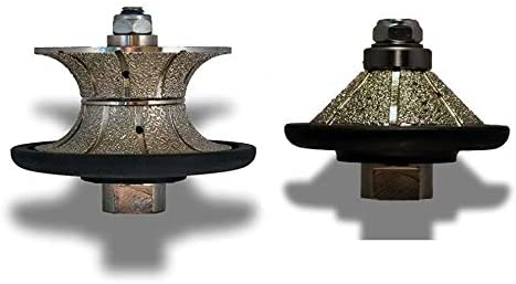 Diamond Granite Marble Countertop Shaping router bit E10 3//8 Bevel Bullnose V30 1 1//4 Full Bullnose concrete ceramic travertine edge refinishing