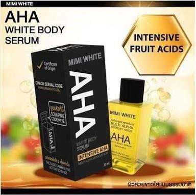 MiMi White AHA Serum - 30 ml Whitening Skin Bleaching, Remove Dark Spots (2 Pcs)