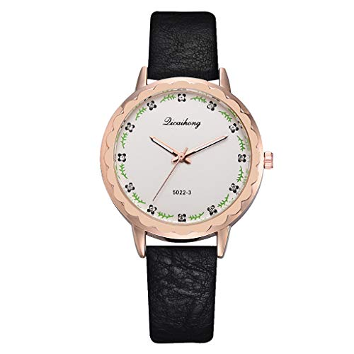 (LUCAMORE Creative Simplicity Women Watch Leather Band Elegant Women Watches Ladies Fashion Casual Wristwatch )