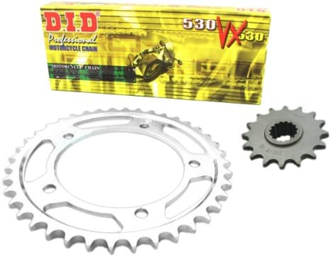 D.I.D HO.019.01-932.01.6 X-Ring Chain Set Type VX for Honda XRV 750 Africa Twin Built 1993-2003 Extra-Reinforced Steel-Coloured