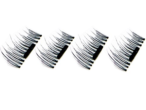 Bathmos 1 Pair/4Pcs 3D New False Magnetic Eyelashes New Fashion Ultra-thin 0.2mm Magnetic Eye Lashes Reusable Magnetic False Eyelashes Perfect for Deep Set Eyes & Round Eyes Magnetic Eyelashes Sets
