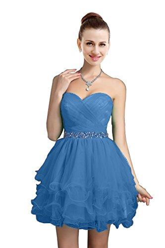 VaniaDress Women Crystals Tulle Short Homecoming Evening Dress V021LF Sky Blue US18W from VaniaDress