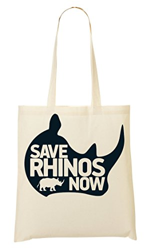 ShutUp Save rhinos now graphic artwork Bolso De Mano Bolsa De La Compra