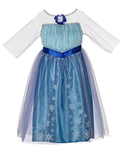 [Disney Frozen Enchanting Dress - Elsa, 4-6X] (Baby Anna Costumes Frozen)