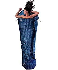 Cocoon Silk MummyLiner (Leaves, 95-Inch x 35/22-Inch)