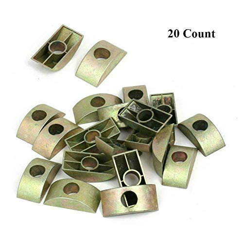 AKOAK 20 Count 8mm Hole Dia Bronze Tone Furniture Connector for sale  Delivered anywhere in Canada