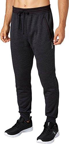 07f859952333 Reebok Men s Performance Fleece Jogger Pants (Caviar Nightfall DD