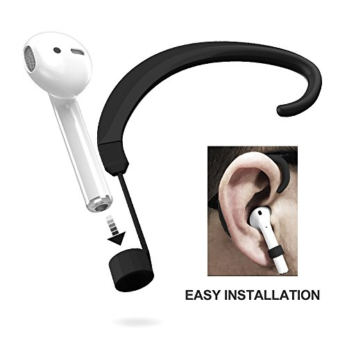 Ear Straps - UMTELE Straps Holder for Airpods, Paired Wireless Airpods Hook Accessories Holders [One for Left and One for Right], Black