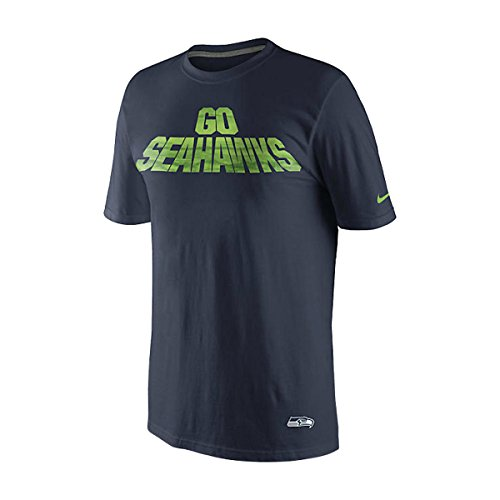 Nike Men's Go Seattle Seahawks Local T-Shirt Small Navy Blue Green