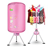 UNA Folding Portable Clothes Dryer Electric Energy Saving Drying Rack Round Shape Pink Ventless Intelligent Clothes Dryer
