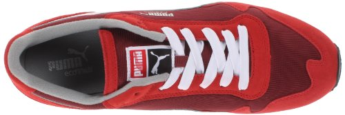 Puma Cabana Mesh Sport Blonder-up Mote Sneaker Høy Risiko Rød / Hvit / Granateple