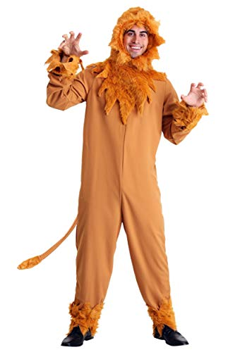 Plus Size Cowardly Lion Mens Costume 3X Orange ()