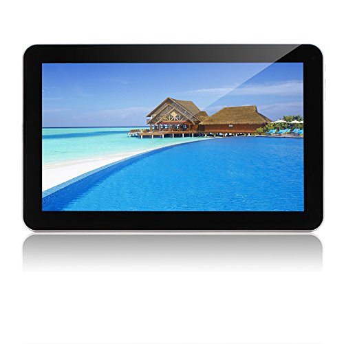 "10.1"" Tablet Google Android 6.0,Quad Core 1.3Ghz,Dual Camera, Bluetooth 4.0, 1GB/16GB, WiFi,GMS Certified with One Year Warranty ,iRULU eXpro X1 Plus (X1Plus)-X10, Black Front and White Rear"