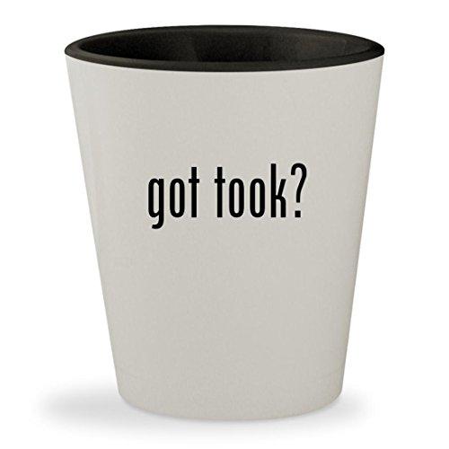got took? - White Outer & Black Inner Ceramic 1.5oz Shot Glass