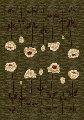 Milliken Innovation Poppy | Olive Area Rug 3'10