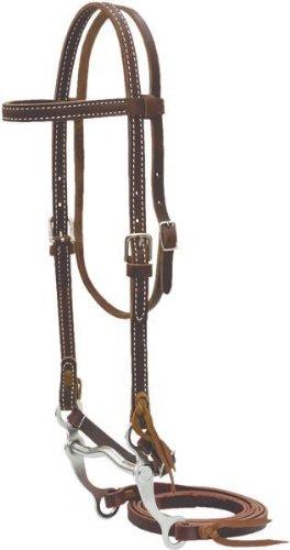 Billy Cook Saddlery Pony Bridle W/ Curb Bit - Burgundy Latigo - Pony