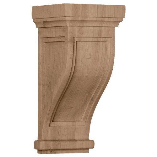 Ekena Millwork COR06X06X14TRRW 6 1/2-Inch W x 6 1/2-Inch D x 14-Inch H Traditional Recessed Corbel, Rubberwood